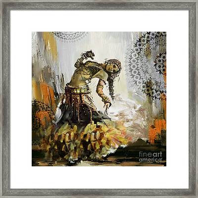 Abstract Belly Dancer 10 Framed Print by Mahnoor Shah