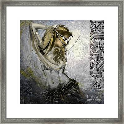 Abstract Belly Dancer 12 Framed Print