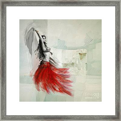 Abstract Belly Dancer 18 Framed Print by Mahnoor Shah