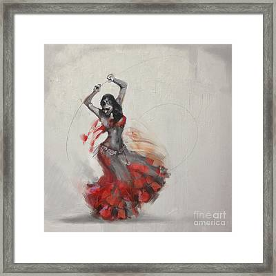 Abstract Belly Dancer 21 Framed Print by Mahnoor Shah