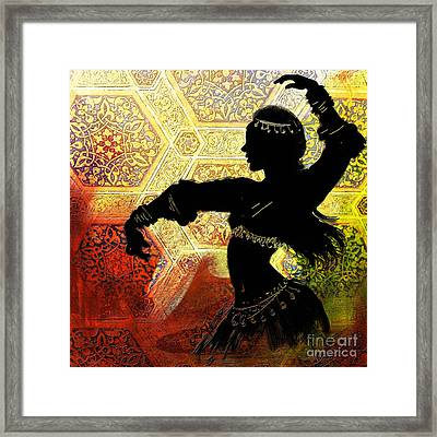 Abstract Belly Dancer 3 Framed Print