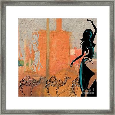 Abstract Belly Dancer 4 Framed Print by Mahnoor Shah