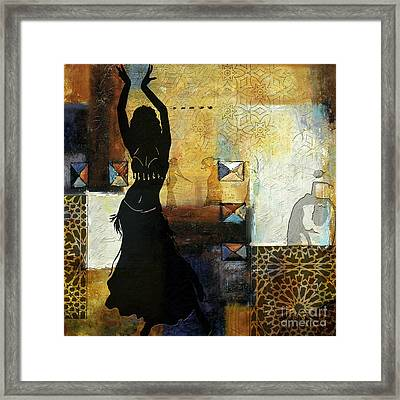 Abstract Belly Dancer 7 Framed Print by Mahnoor Shah
