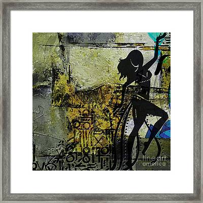 Abstract Belly Dancer 8 Framed Print by Mahnoor Shah