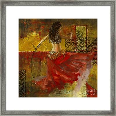 Abstract Belly Dancer 9 Framed Print by Mahnoor Shah