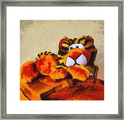 Abstract Bengal Tiger Framed Print by Barbara Snyder