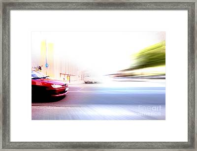 Abstract Big City Rush Hour Framed Print by Michal Bednarek