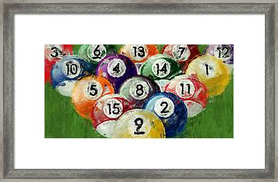 Abstract Billiards Rack Framed Print
