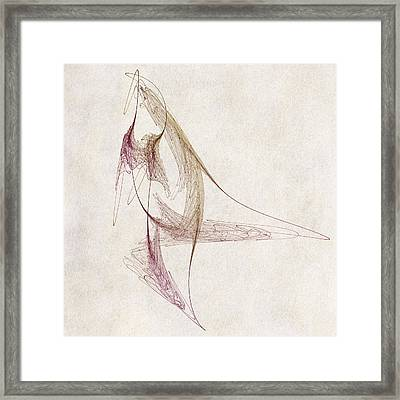 Abstract Bird Framed Print by David Ridley