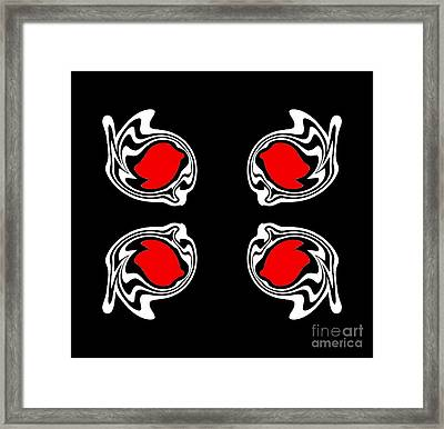 Abstract Black White Red Minimalism Art No.387. Framed Print by Drinka Mercep