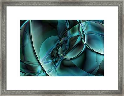 Abstract Blue Framed Print