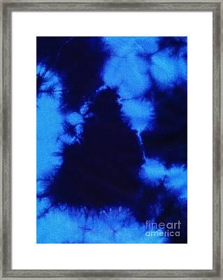 Abstract Blue Batik Pattern Framed Print by Kerstin Ivarsson