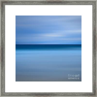 Abstract Blue Beach Framed Print by Katherine Gendreau