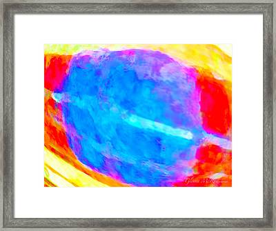 Abstract Blue Dwarf Framed Print by Glenna McRae