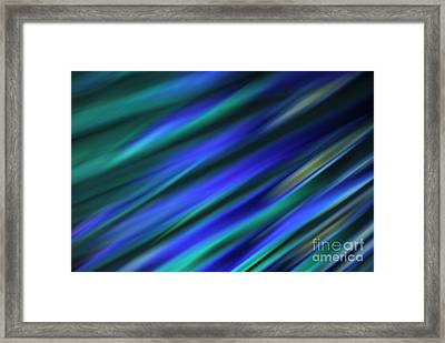 Abstract Blue Green Diagonal Blur Framed Print by Marvin Spates