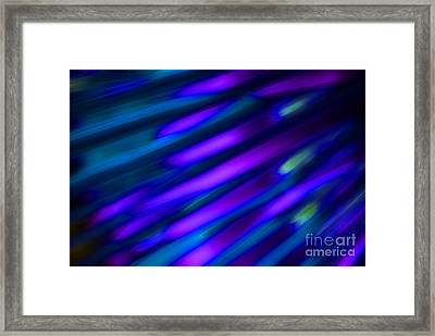 Abstract Blue Green Pink Diagonal Framed Print by Marvin Spates