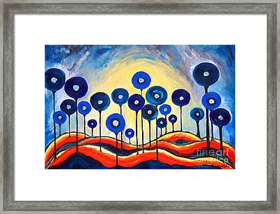 Abstract Blue Symphony  Framed Print by Ramona Matei