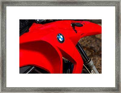 Abstract Bmw Gas Tank Framed Print