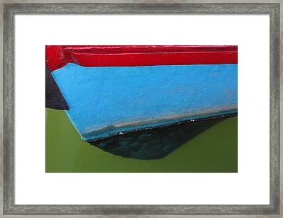 Abstract Boat Bow Framed Print by Juergen Roth