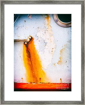 Framed Print featuring the photograph Abstract Boat Detail by Silvia Ganora
