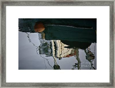 Abstract Boat Reflection II Framed Print by Dave Gordon