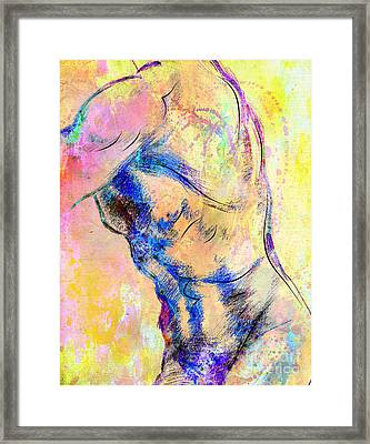 Abstract Bod 6 Framed Print by Mark Ashkenazi