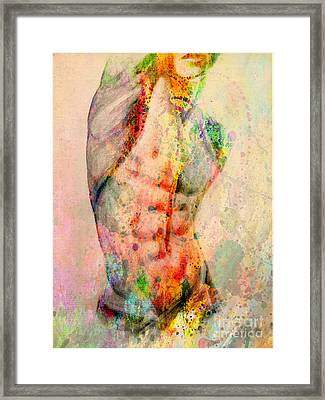 Abstract Body 5 Framed Print by Mark Ashkenazi