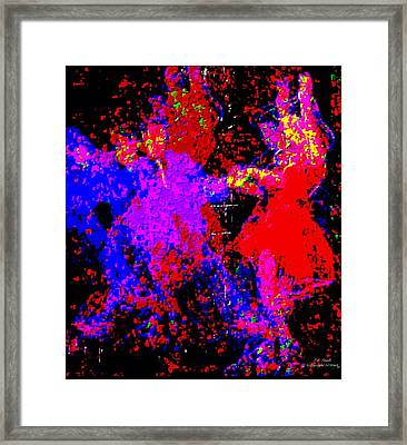 Abstract Boogie Framed Print by Larry E Lamb