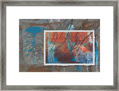 Abstract Branch Collage Framed Print by Anita Burgermeister
