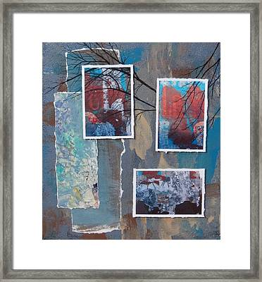 Abstract Branch Collage Trio Framed Print by Anita Burgermeister