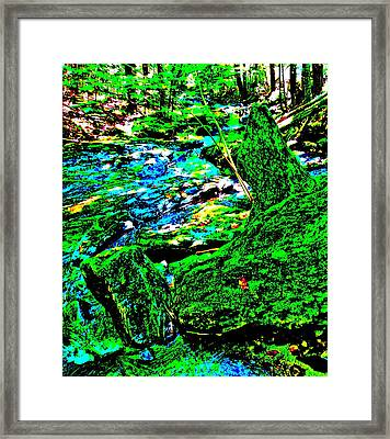 Abstract Brook Bits 56 Framed Print