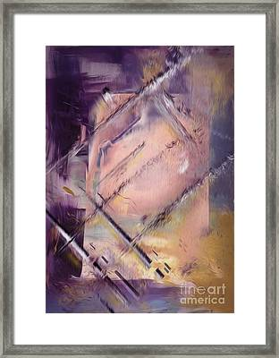 Abstract Framed Print by Bruno Santoro