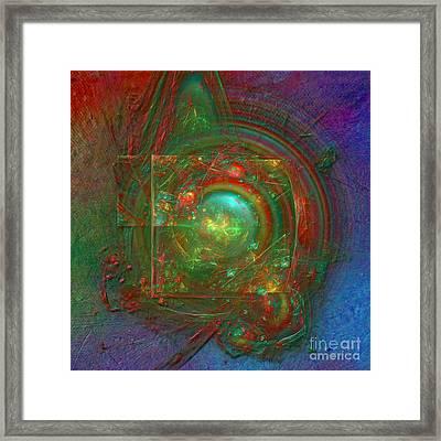 Framed Print featuring the digital art Abstract Bubble by Alexa Szlavics