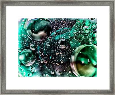 Abstract Bubbles Framed Print by Stelios Kleanthous