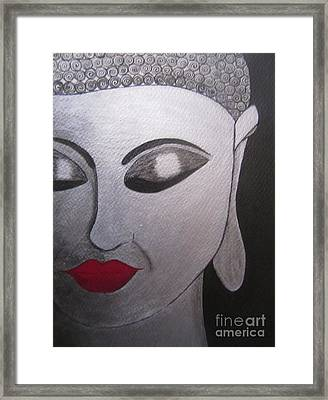 Abstract Buddha Framed Print by Priyanka Rastogi