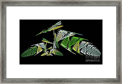 Abstract Bugs Life Horizontal Framed Print by Andee Design