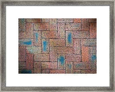 Abstract Burnt Bricks Framed Print