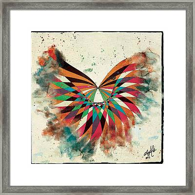 Abstract Butterfly Framed Print by April Gann