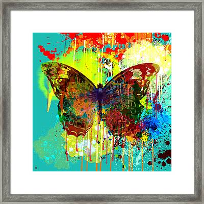 Abstract Butterfly Framed Print by Gary Grayson