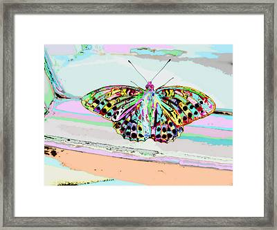 Abstract Butterfly Framed Print by Marianna Mills