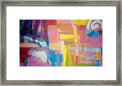 Abstract Caleidoscope Framed Print by Anna Zygmunt
