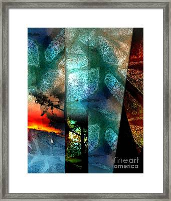 Framed Print featuring the digital art Abstract Calling by Allison Ashton
