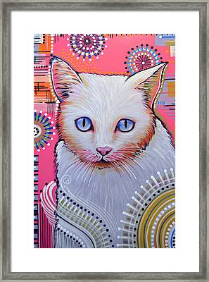 Abstract Cat Art Painting ... Slinky Framed Print by Amy Giacomelli