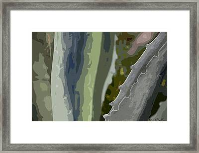 Framed Print featuring the photograph Abstract Century I by Kathy Ponce