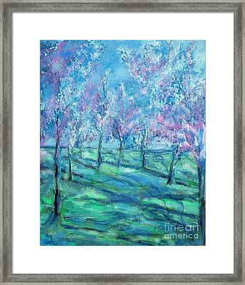 Abstract Cherry Trees Framed Print by Eric  Schiabor