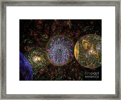 Abstract Christmas Balls #1 Framed Print by Russell Kightley