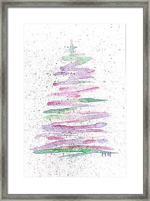 Abstract Christmas Tree Framed Print