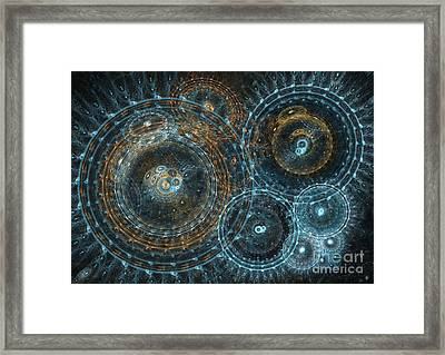 Abstract Circle Fractal Framed Print