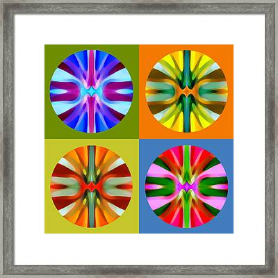 Abstract Circles And Squares 1 Framed Print by Amy Vangsgard