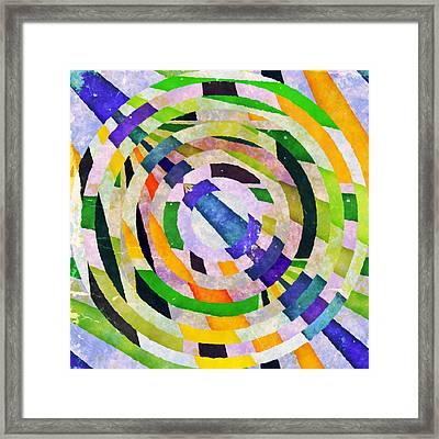 Abstract Circles Framed Print by Susan Leggett